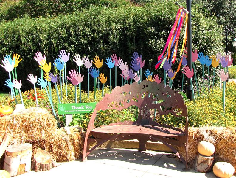 Beautiful Metal Bench - Lewis Ginter Botanical Gardens - Richmond, VA