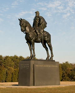 Stonewall Jackson Statue Manassas National Battlefield Manassas, VA Nikon D300, and Nikkor 18-200 VR Lens I like this one better, with the sky as the background rather than the Cyprus and Pine trees.