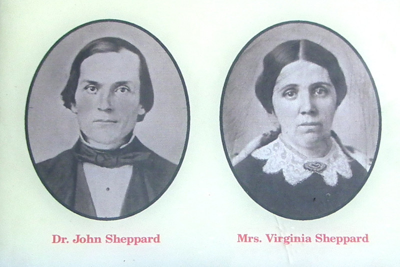 """Dr. John and Virginia Sheppard - Meadow Farm - Glen Allen, VA<br /> The Shepphard family lived at Meadow Farm during the Civil War.  Dr. John Sheppard, a physician and farmer, his wife and 9 children all felt the impact of the war.  Alexander Hamilton, Dr. Sheppard's oldest son, was a guard at Libby Prison, a Confederate prison for captured Union soldiers.  Since the Fall of 1863, the Confederate Government required farmers including Dr. Sheppard to turn over 1/10 of all their crops and meat as a tax in kind """"for the common defense and [to] carry on the government of the Confederate states.""""  The loss of needed crops, shortages of basic consumer items and escalating inflation all contributed to the deteriorating quality of southern life."""