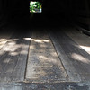 """Notice the """"Tracks"""" For Cars to Use - Meems Covered Bridge - Mount Jackson, VA"""