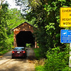 Randal Drives Through As I Walk - Meems Covered Bridge - Mount Jackson, VA<br /> Meems Bottom Bridge was constructed in 1892-93 by Franklin H. Wissler to provide a more convenient access to his apple orchards and Strathmore Farm. He built it well with strict attention to proper drainage of rain and surface water and topped it with a roof. Mr. Wissler deeded the bridge to the Highway Department in the 1930's in return for assuming its maintenance. It was placed on the Virginia Landmark Register, as well as the National Historic Register in April 1975.