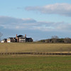 Pretty Winter Day Country Views on Blenheim Road, Albemarle County, VA  1-6-13<br /> Aventador Farm - Closer view of the  mansion on the hill.