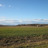 Pretty Winter Day Country Views on Blenheim Road, Albemarle County, VA  1-6-13<br /> Aventador Farm - The clouds look like mountains.