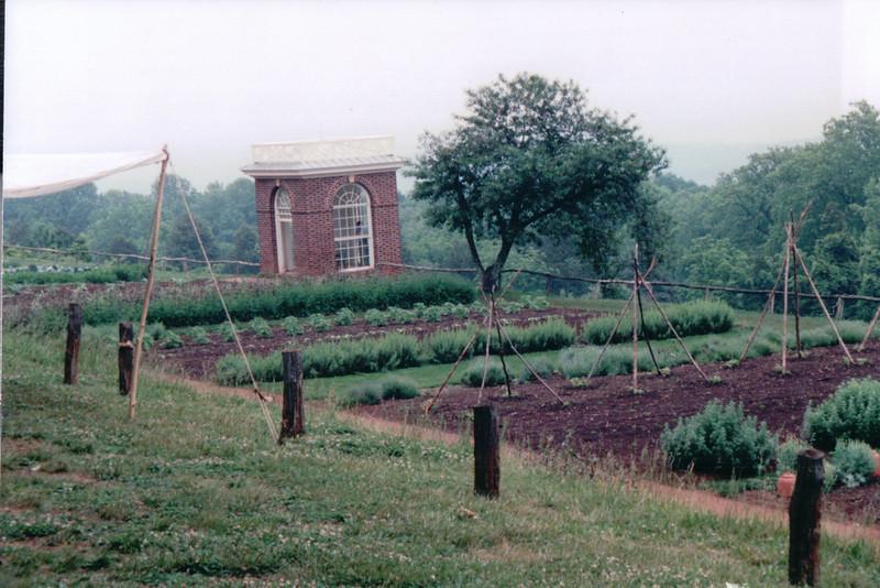 Vegetable Gardens - Monticello, Home of Thomas Jefferson, Charlottesville, VA  5-20-01