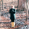 Donna With New Rubber Boots on Woods Walk - Montpelier Estate, Orange County, VA  1-21-01