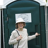 First Time (and hopefully ONLY time) For Donna In A Porta Potty - Montpelier Restoration Celebration, Orange, VA