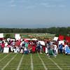 2600 School Children Lining Up To Make A Flag - Montpelier Restoration Celebration, Orange, VA