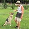 Barbara, the Owner, and Greta Garbo, a Rescue Dog - Mountainside Petting Farm - Afton, VA  9-3-10