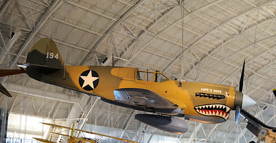 Smithsonian Institution National Air & Space Museum Steven F Udvar-Hazy Center  Chantilly, VA Curtiss P-40E Warhawk (Kittyhawk IA) Nikon D300, Nikkor 17-35 f/2.8