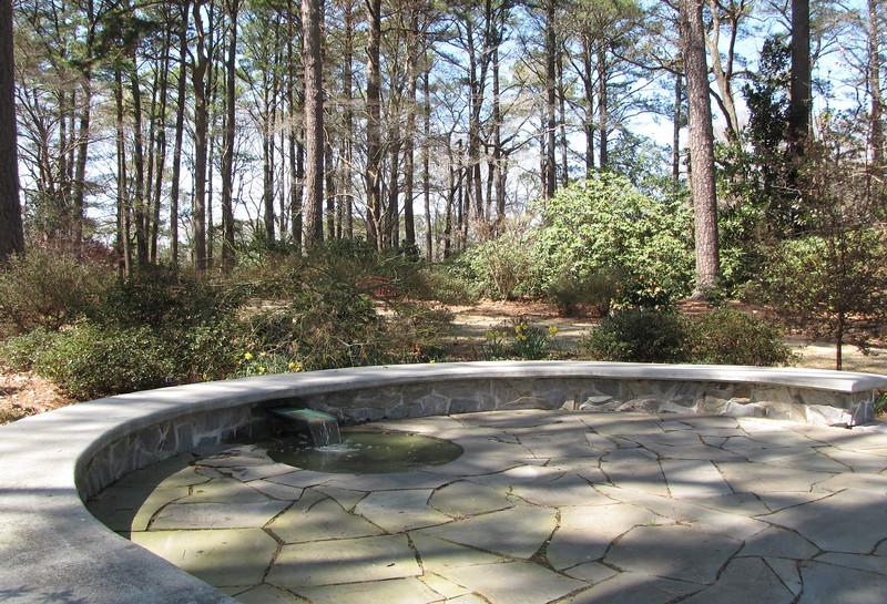 Reflection Garden With Small Waterfall   Winter Garden   Norfolk Botanical  Gardens