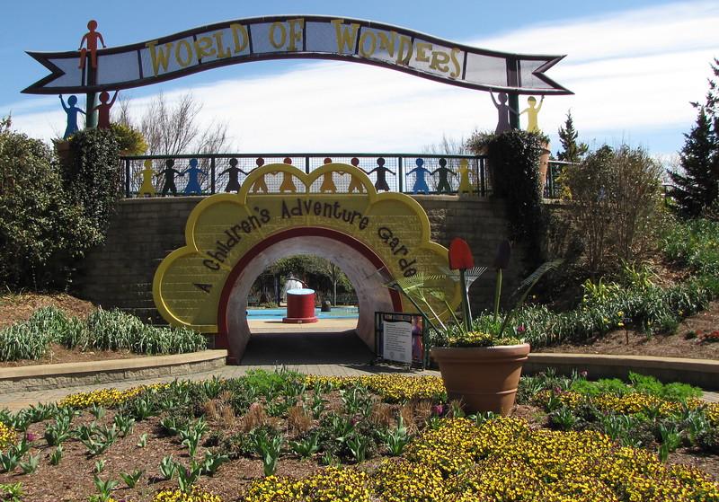 Entrance To World Of Wonders Childrenu0027s Garden   Norfolk Botanical Gardensu003cbr  /u003e We
