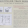 Signage About the Depot - Montpelier's Train Station - Orange, VA