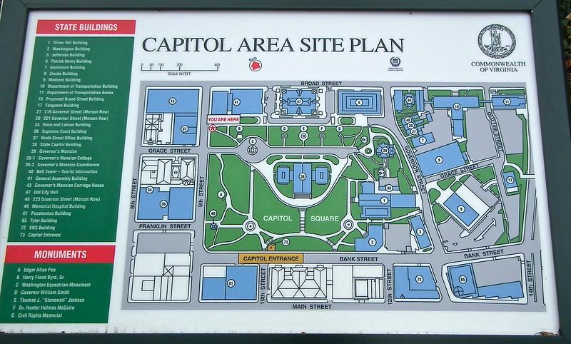 Capitol Square Area Site Plan - Richmond, VA