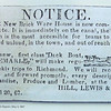 Canal Basin Square - E. Main St. - Scottsville, VA  1-6-13<br /> The Canal Warehouse was conveniently located on the canal basin where it served as a depot for tobacco, flour, produce and other supplies awaiting shipment by boat to market.  This notice was in the Scottsville Register on May 4, 1867.