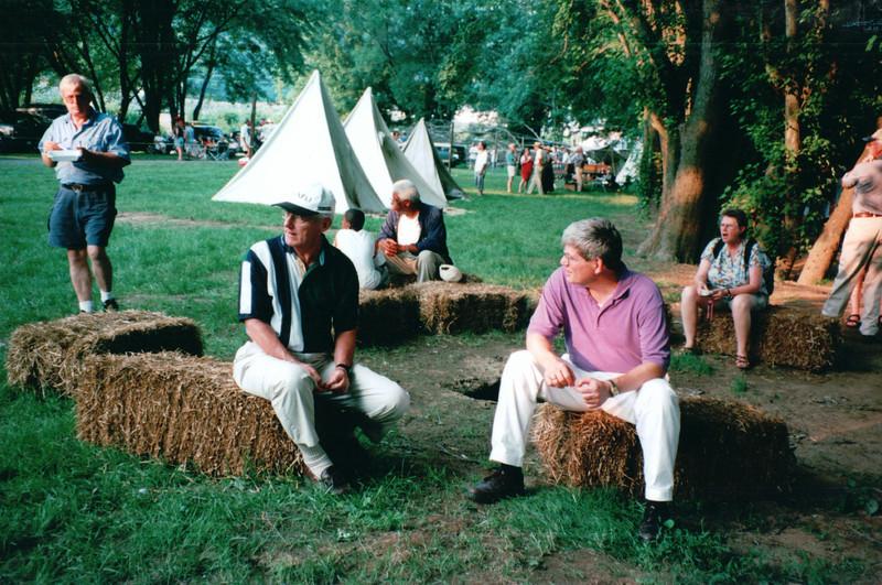Bob and Randal - Batteau Festival, Scottsville, VA  6-20-01