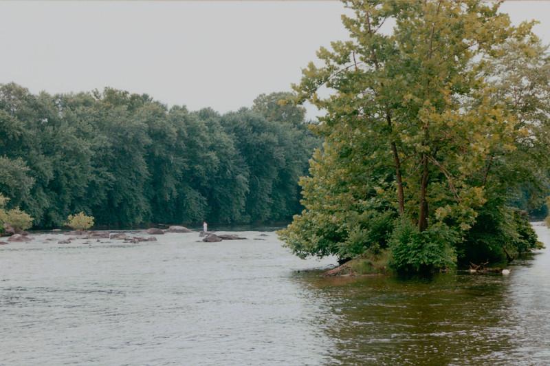 James River - Hadden's Ferry Near Scottsville, VA - August 2001