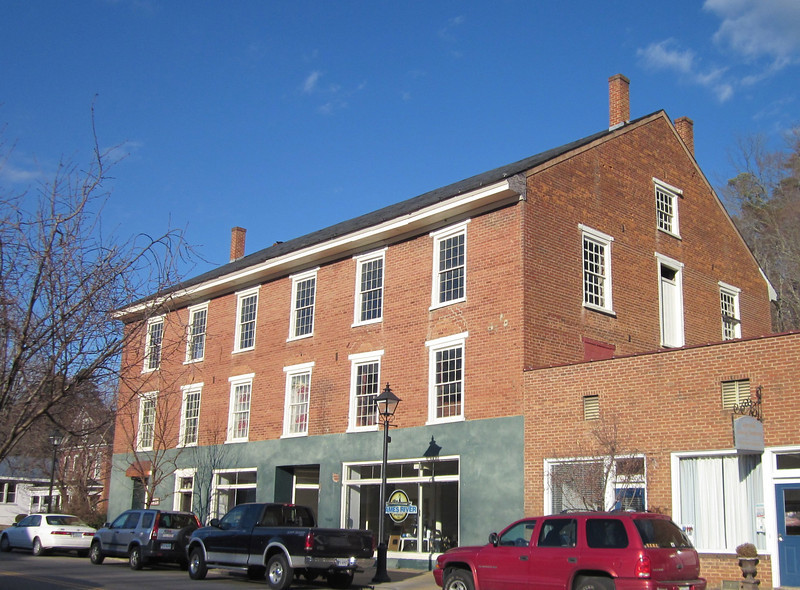 James River Brewing - Valley Street, Downtown Scottsville, VA  1-6-13<br /> This circa 1830s three-story brick building was a warehouse.