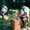 Basket Weaving - Batteau Festival, Scottsville, VA  6-20-01<br /> This annual festival celebrates local history with folks who have stepped back in time. Batteau fans in period costume stop in Scottsville as they make their annual trek down the James River in the shallow, flat-bottomed river boats.