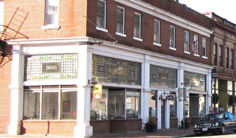 Historic Drugstore - Valley Street, Downtown Scottsville, VA  1-6-13<br /> The building was purchased by Thomas Ellison Bruce, the town's pharmacist in 1927 and remodeled in 1928.  Bruce later served 4 terms as Scottsville's mayor from 1935 to 1943.  Bruce's Drug Store remained in this building until 2003.