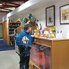 Jean DeMarco Looks at Wildlife Education Materials - The Wildlife Center, Lyndhurst, VA  10-18-09