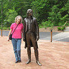Donna and Thomas Jefferson at Monticello's New Thomas Jefferson Visitor Center - Charlottesville, VA