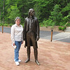 Carolyn and Thomas Jefferson at Monticello's New Thomas Jefferson Visitor Center - Charlottesville, VA
