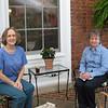 Donna and Carolyn Enjoying the Patio - Carr's Hill President's House - UVA - Charlottesville, VA