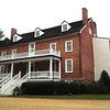 Front View of Walkerton Tavern - Glen Allen, VA<br /> Walkerton is notable for a hinged, swinging, two-segment partition that was used to enlarge an upstairs room to accommodate guests. The building was restored in 1986 and Henrico County purchased it in 1995.