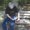 """Letterbox on the Bench - Waller Mill Park - Williamsburg, VA As we approached this bench we saw a container that looked like a <a href=""""http://www.thenatureinus.com/2012/07/i-found-new-adventure-letterboxing.html""""><b>letterbox</b></a>.  It was, so we did our stamps and buried it according to directions on the next series of clues we had."""