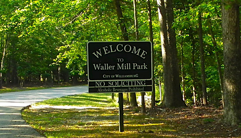 Entrance Drive - Waller Mill Park - Williamsburg, VA<br /> Waller Mill Park's 2,705 acres of land leave plenty of space for outdoor activities, adventure and recreation of all kinds. At the 286-acre reservoir, canoeing, boating and fishing are the most popular activities