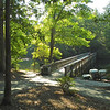 View of the Bridge to the Picnic Shelters and Nature Trails - Waller Mill Park - Williamsburg, VA<br /> Available Trails Include:  Shelter Trail .75 miles, Bayberry Trail .9 miles, Lookout Tower 2.9 miles, and Paved Bike/Walking Trail 2 miles.