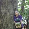Donna with New Backpack From Mary Wright - Waller Mill Park - Williamsburg, VA<br /> All trees are friends, especially old ones like this one.  I have the backpack that Mary, a friend of mine, gave me the night before we took this letterboxing jaunt.  It has all kinds of compartments which always excites me since I love to organize.  Perfect size for granola bars, letterbox journals and stamps, water, wet wipes, etc.  It really made the day special.