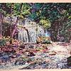 "Summer Cascades - Frederick Nichols<br /> Piedmont Valley Community College Exhibit - silkscreen, 1992 -  <a href=""http://www.frednichols.com"">http://www.frednichols.com</a>"
