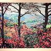 "Autumn Over Warm Springs - Frederick Nichols<br /> Piedmont Valley Community College Exhibit - silkscreen, 1994 -  <a href=""http://www.frednichols.com"">http://www.frednichols.com</a>"
