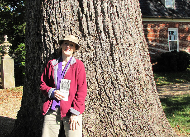 Donna Against One of the 150 Year Old Poplar Trees - Westover Plantation - Charles City, VA  10-23-10
