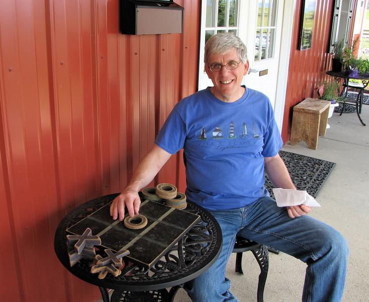 Randal Before We Began a Tic-Tac-Toe Game - White Oak Lavender Farm - Harrisonburg, VA  7-2-11