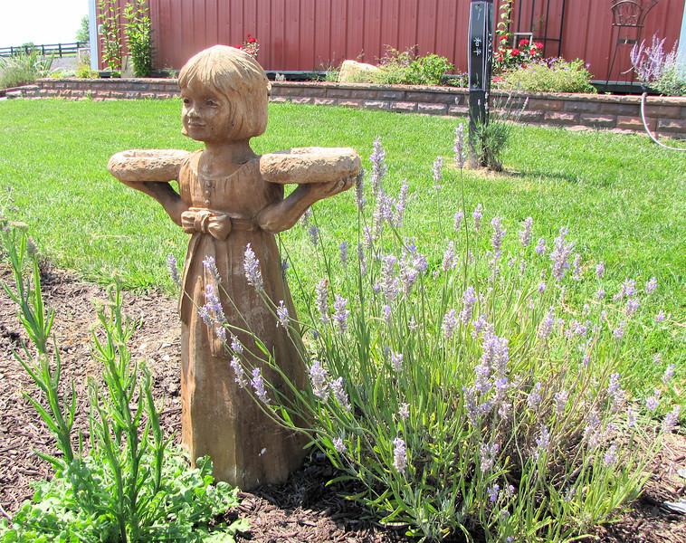 Statuary at White Oak Lavender Farm - Harrisonburg, VA  7-2-11