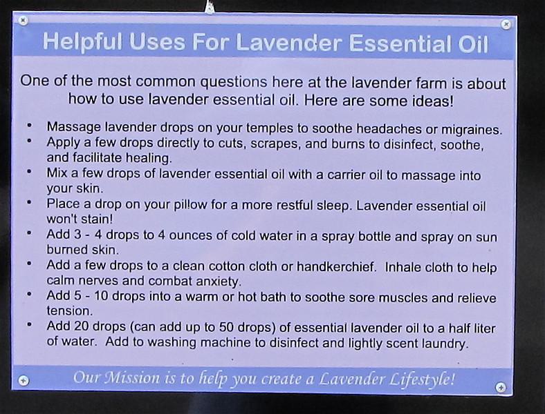 "<a href=""http://www.theherbsplace.com/Lavender_Fine_AOC_100_Pure_Essential_Oil_p_35.html""><b>Benefits of Lavender</b></a> - White Oak Lavender Farm - Harrisonburg, VA  7-2-11"