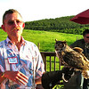 Bill Sikes and Quinn, Great Horned Owl - The Wildlife Center Benefit at Carter Mountain Orchard, Charlottesville, VA  6-9-12