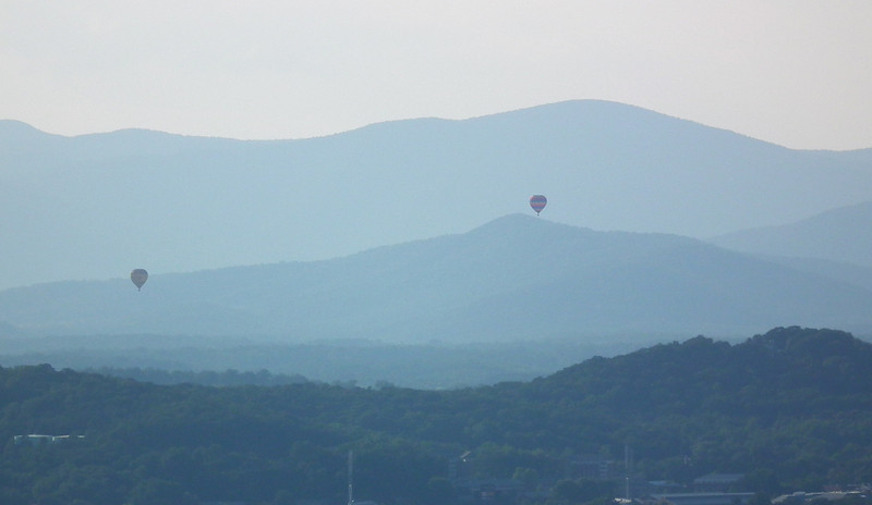 Two Hot Air Balloons - The Wildlife Center Benefit at Carter Mountain Orchard, Charlottesville, VA  6-9-12