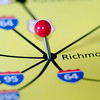 richmond virginia pin othe map