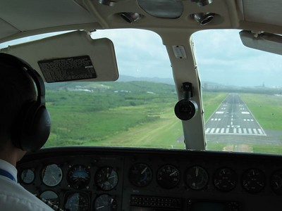 Commuting in a Cessna 402 - St. Thomsas to St. John
