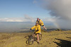Justin and Tom posing for picture on bike descent of Haleakala
