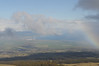 Rainbow and scenery on Haleakala descent