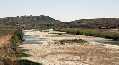 The dried up Rio Grande.  (It will come back to life on it's way to the Gulf.)