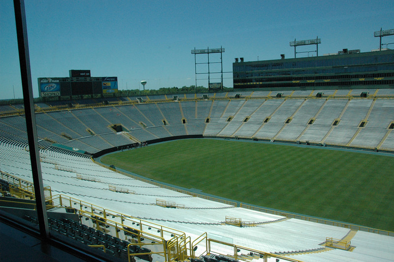 View of Lambeau Field from the $100,000/yr luxury box!!!
