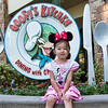 Maia, at Goofy's Kitchen, Disneyland ... the character lunch, to celebrate her birthday!