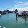 Boats in downtown Auckland
