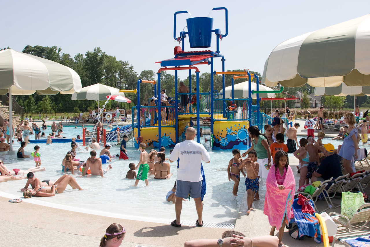 This is the community pool in the Woodlands development in Spring, TX