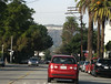 After the studio tours we followed Scott's Hokie-ed out Aveo up to the Hollywood sign